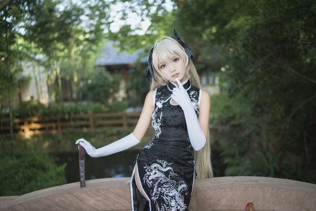 穹妹·黑色旗袍