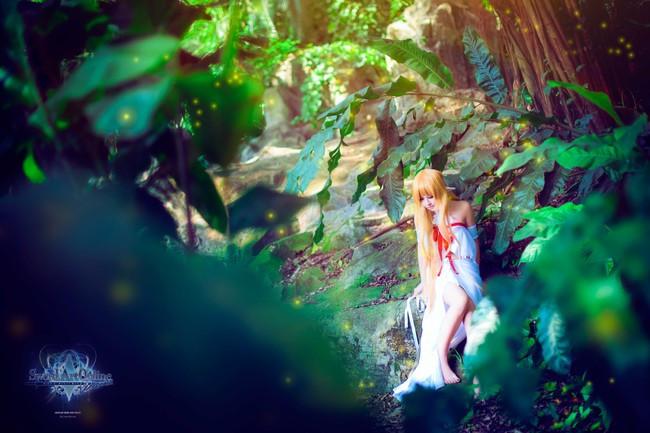 刀剑神域 妖精之舞 cos 亚丝娜