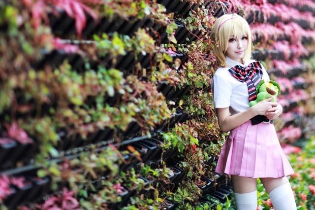 动画「青之驱魔师」中,女主角杜山诗惠美的cosplay照片!