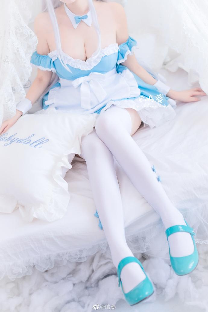 [cosplay]碧蓝航线 白丝女仆小天鹅cos