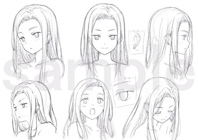 TV动画「剃须。然后捡到女高中生」追加角色设定图