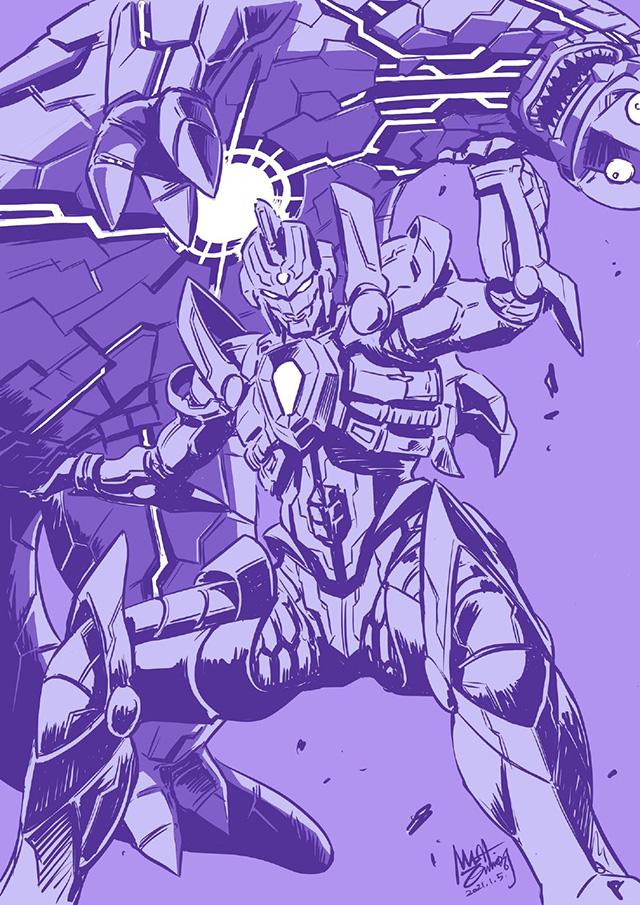 漫画家西川伸司为即将播出的「SSSS.DYNAZENON」绘制宣传图