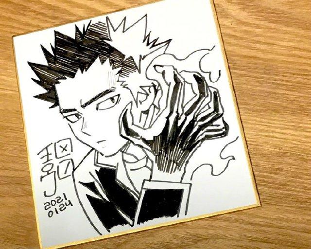 「结界师」作者田边伊卫郎绘制志志尾限色纸公开